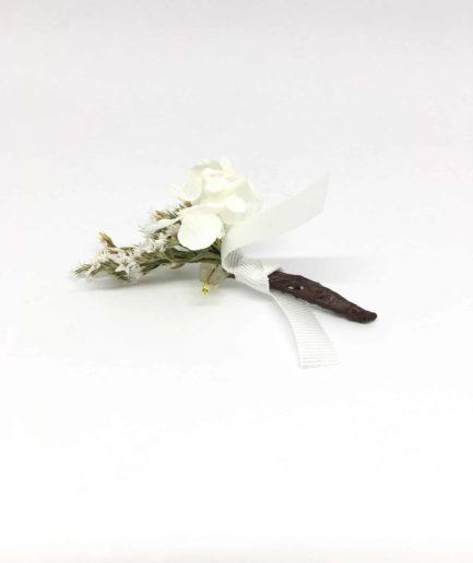 Boutonnière de mariage Aster en fleurs séchées et stabilisées - Collection 2018