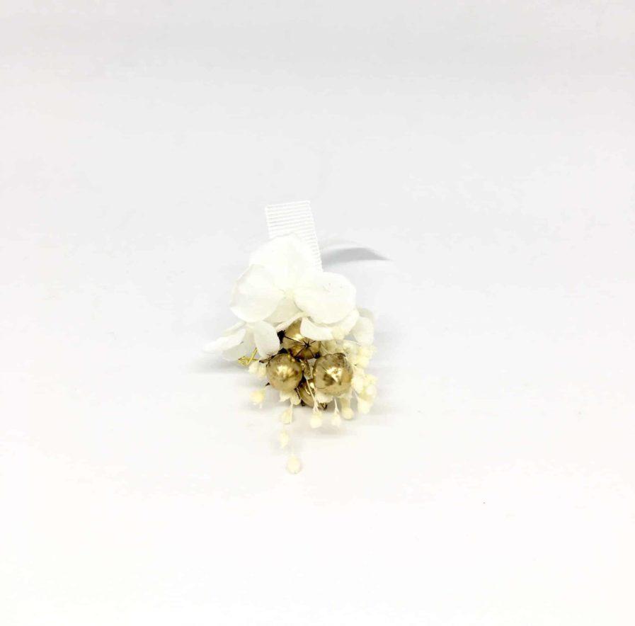 Boutonnière de mariage Aura - Les Fleurs Dupont - Collection Couture