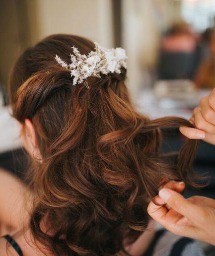 Peigne de mariée Aster en fleurs