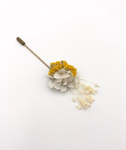 Boutonnière broche Hysope - Les Fleurs Dupont
