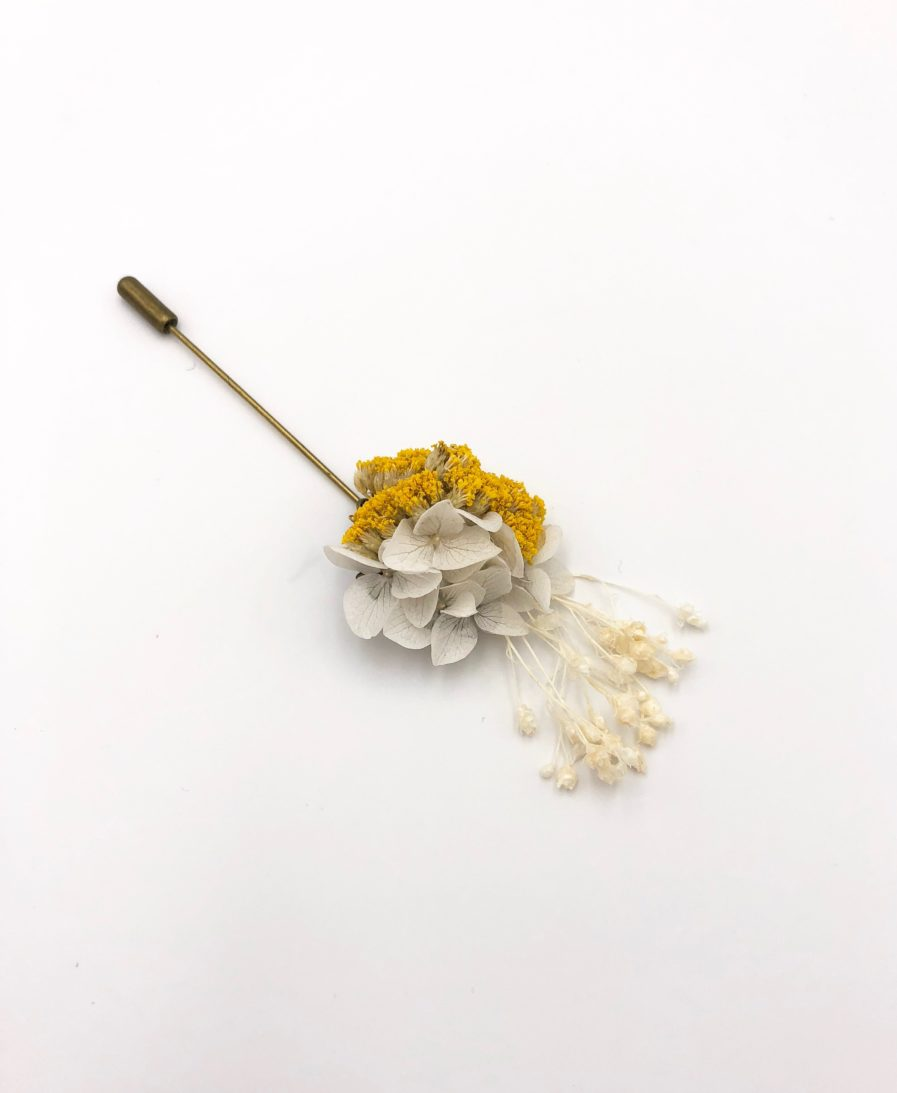 Boutonnière broche Hysope - Les Fleurs Dupont