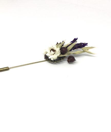 Boutonnière en fleurs Cérès - Fleurs séchées