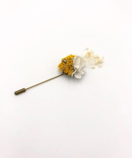 Boutonnière en fleurs Hysope - Collection Couture