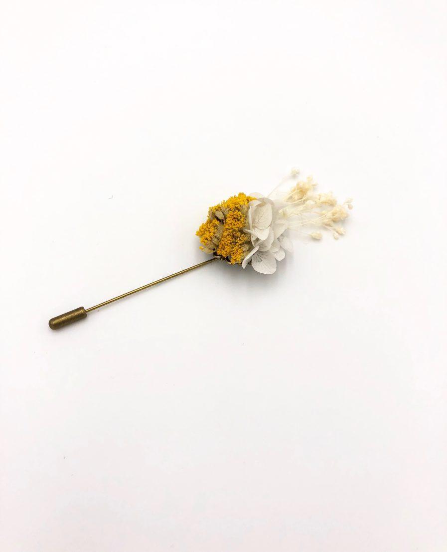 Boutonnière en fleurs Hysope - Collection Couture