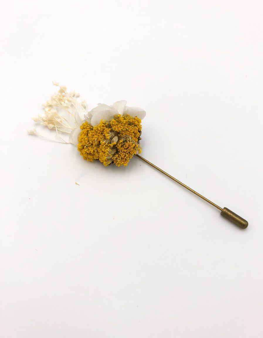 Boutonnière en fleurs séchées Hysope - Les Fleurs Dupont