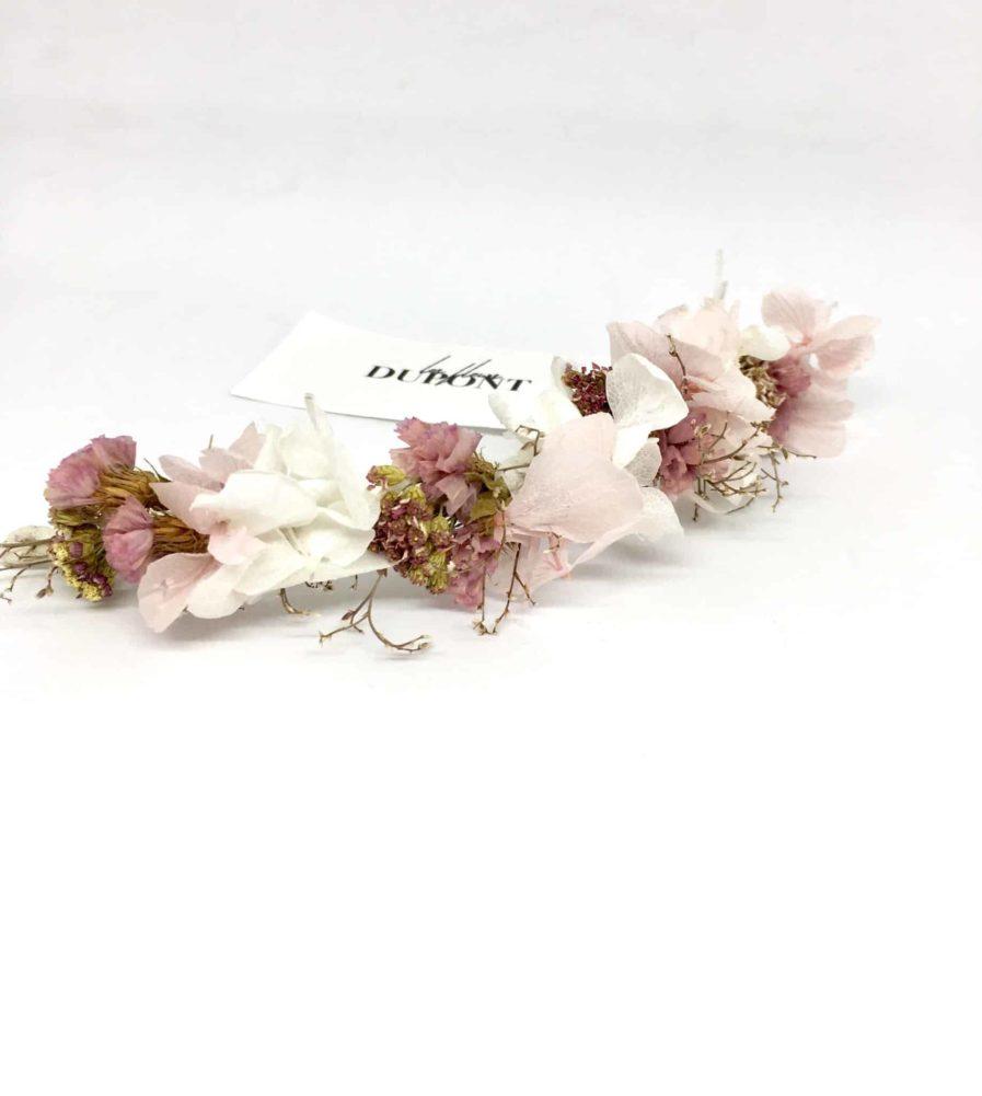 Barrette de mariée Lilla - Accessoire de cheveux pour la mariée romantique et chic - les Fleurs Dupont
