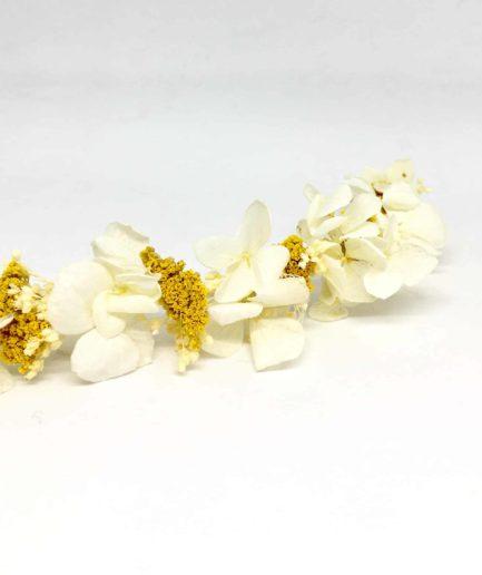Barrette de mariage Hysope en fleurs naturelles - Les Fleurs Dupont