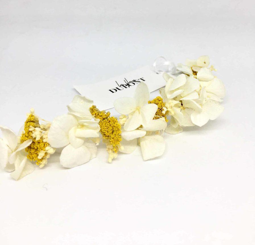 Barrette de mariage Hysope en fleurs naturelles - Accessoire pour la mariée
