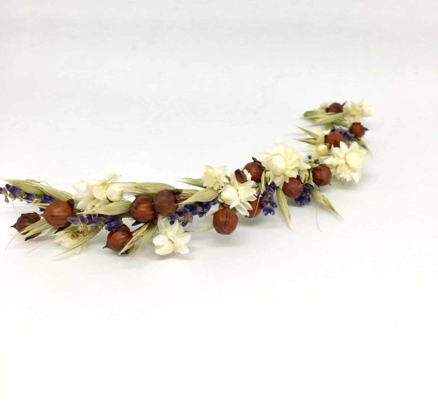 Barrette de mariage Cérès - Barrette en fleurs pour la mariée - Collection champêtre