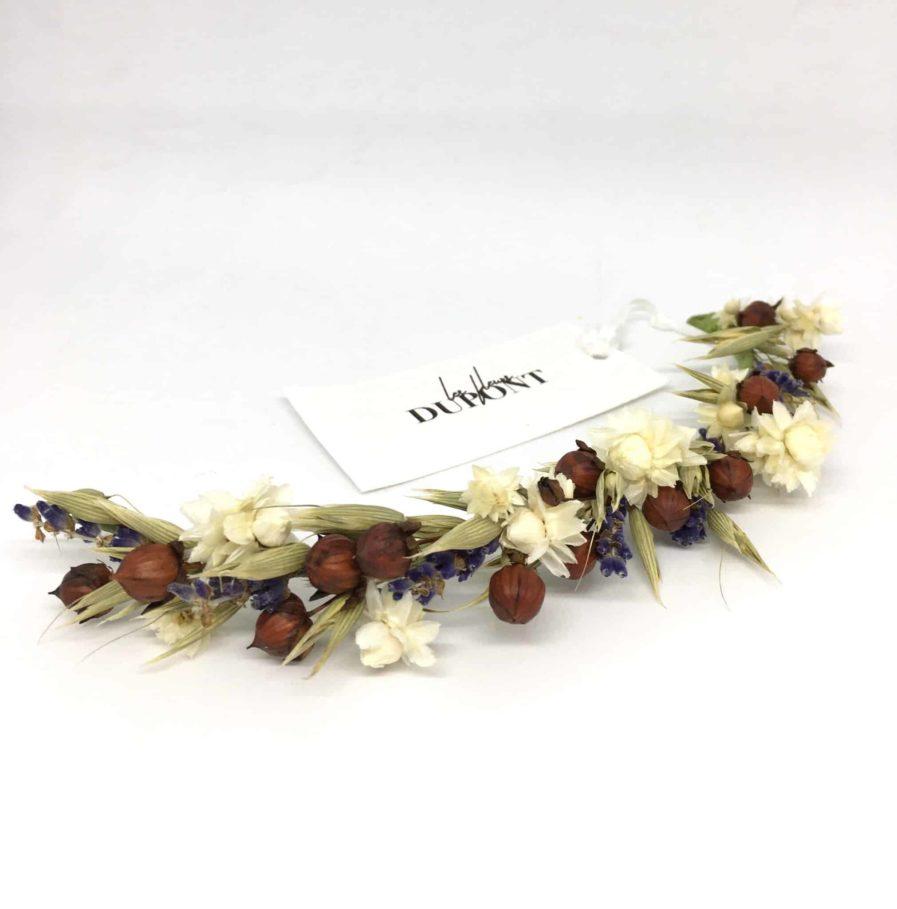 Barrette de mariage Cérès - Barrette en fleurs pour la mariée bohème
