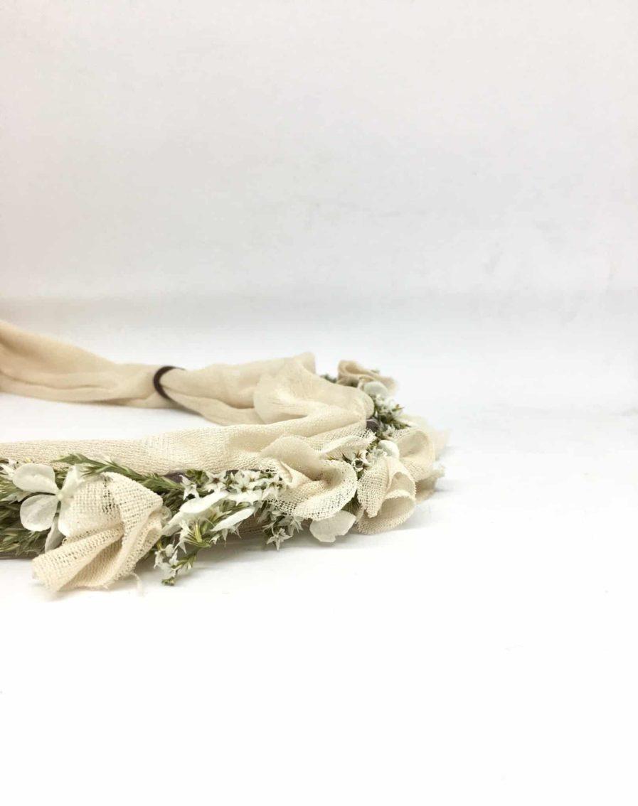 Couronne de fleurs voile Billie - hotographie Anaïs NanniniCollaboration entre l'Amoureuse by Ingrid Fey et les Fleurs Dupont - Couleur blush