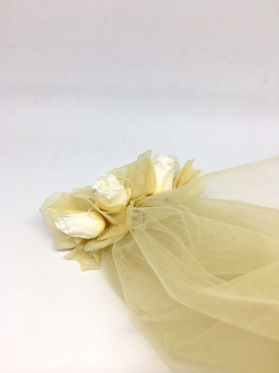 Voile de mariée en fleurs Ella - Couleur Champagne - Voile de mariage fleuri - Collection 2018