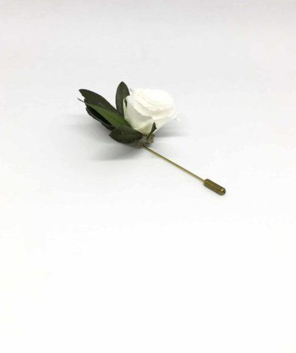 Boutonnière en fleurs Marcel - Boutonnière pic à cravate pour témoins et mariés - Pour les gentlemen
