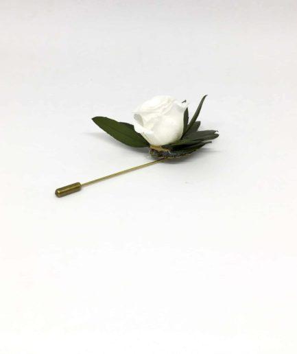 Boutonnière en fleurs Marcel - Boutonnière pic à cravate pour témoins et mariés - Intemporel