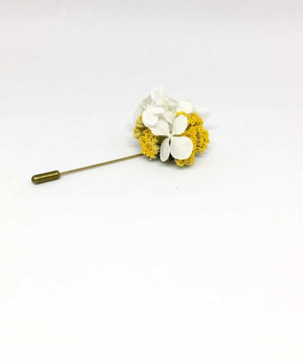 Boutonnière en fleurs Felix - Accessoire du marié et des témoins en fleurs - Les Fleurs Dupont