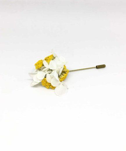 Boutonnière en fleurs Felix - Accessoire du marié et des témoins en fleurs - Chic et contemporain
