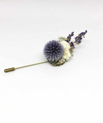 Boutonnière en fleurs Cyriaque - Accessoire du marié et des témoins - Les Fleurs Dupont