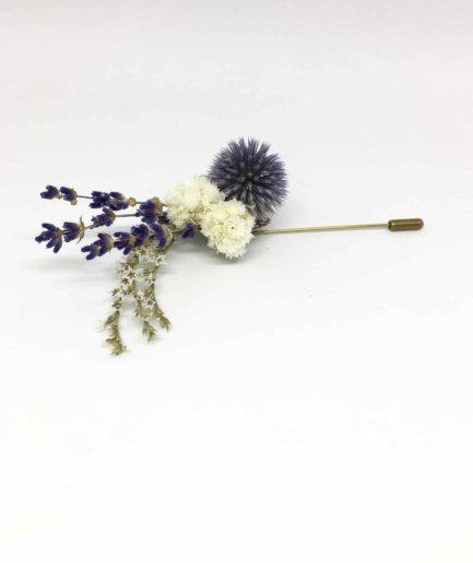 Boutonnière en fleurs Cyriaque - Accessoire du marié et des témoins - tendance et élégante