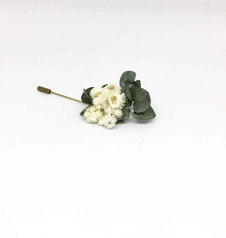 Boutonnière en fleurs Gorgon - Accessoire du marié et des témoins en fleurs - Les Fleurs Dupont
