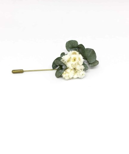 Boutonnières en fleurs - broches -Boutonnière en fleurs Gorgon - Accessoire du marié et des témoins en fleurs - Les Fleurs Dupont