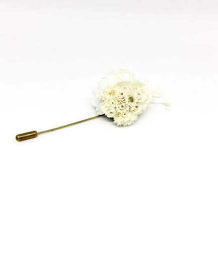 Boutonnière en fleurs Simplice - Accessoire du marié et des témoins - Boutonnière de mariage chic