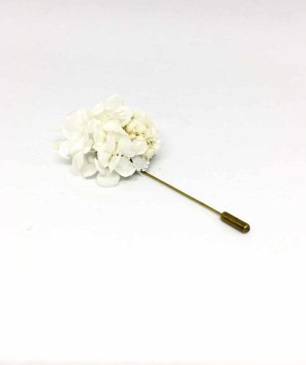 Boutonnière en fleurs Simplice - Accessoire du marié et des témoins - Les Fleurs Dupont