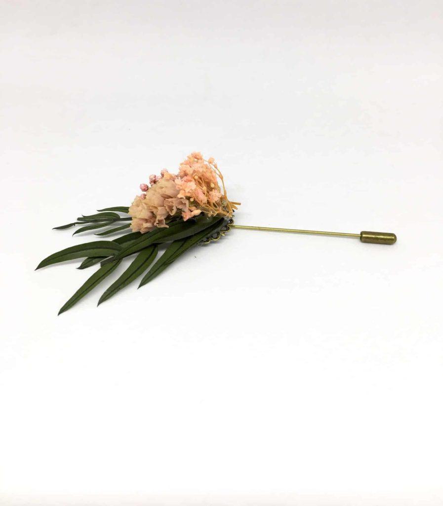 Boutonnière en fleurs Marcellin - Boutonnière en fleurs pour mariés et témoins