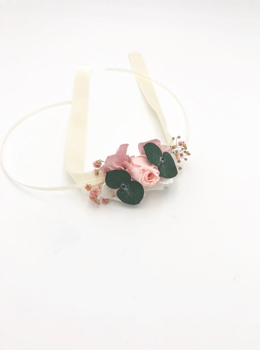 Bracelet de demoiselle d'honneur Confetti en fleurs stabilisées