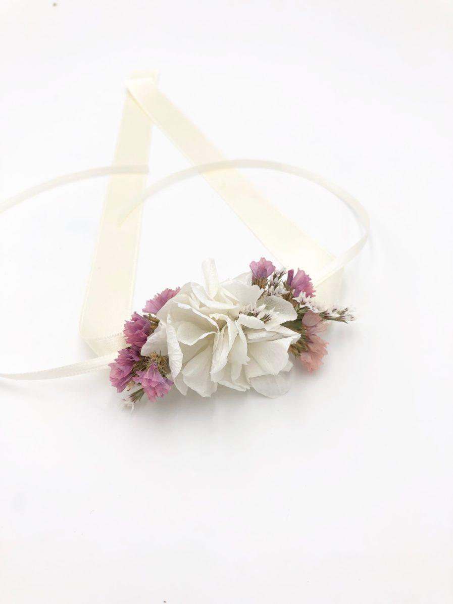 Bracelet de demoiselle d'honneur Lilla en fleurs séchées