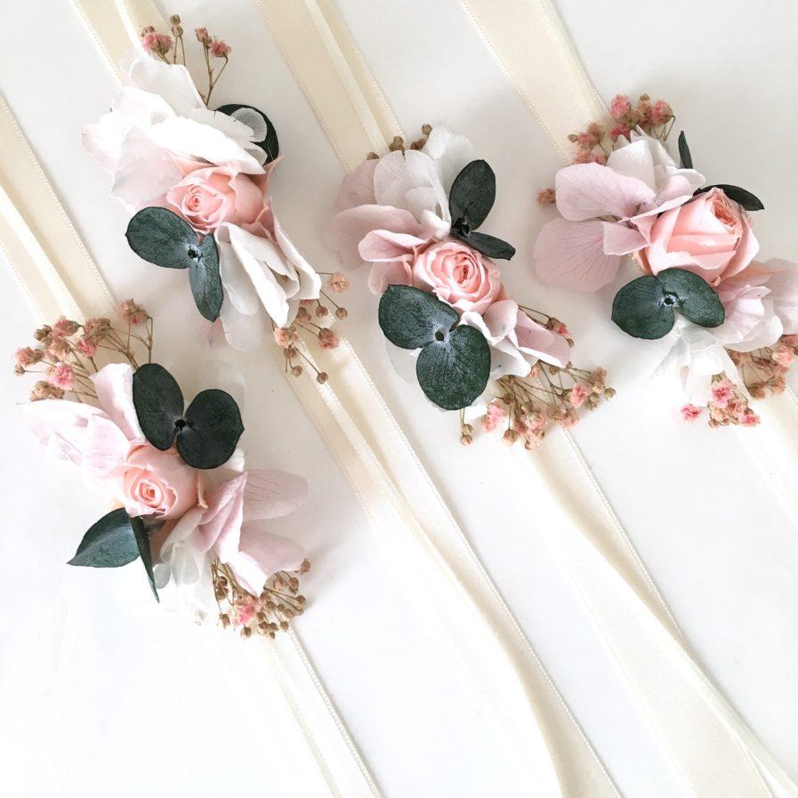 Bracelet de demoiselles d'honneur Confetti - les Fleurs Dupont