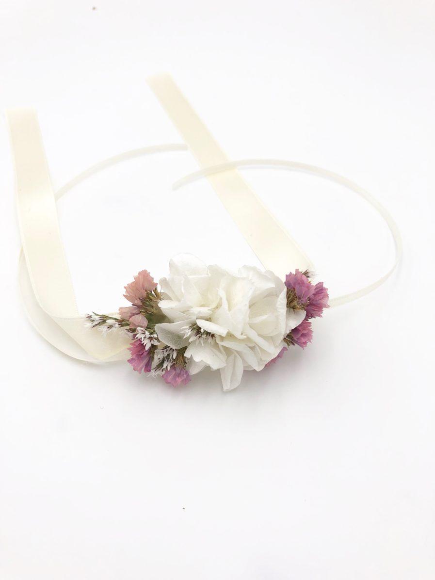 Bracelet de demoiselles d'honneur Lilla en fleurs séchées