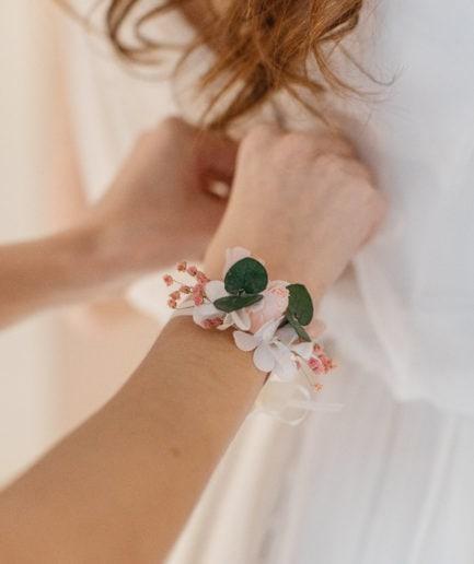 Bracelet en fleurs stabilisées Confetti