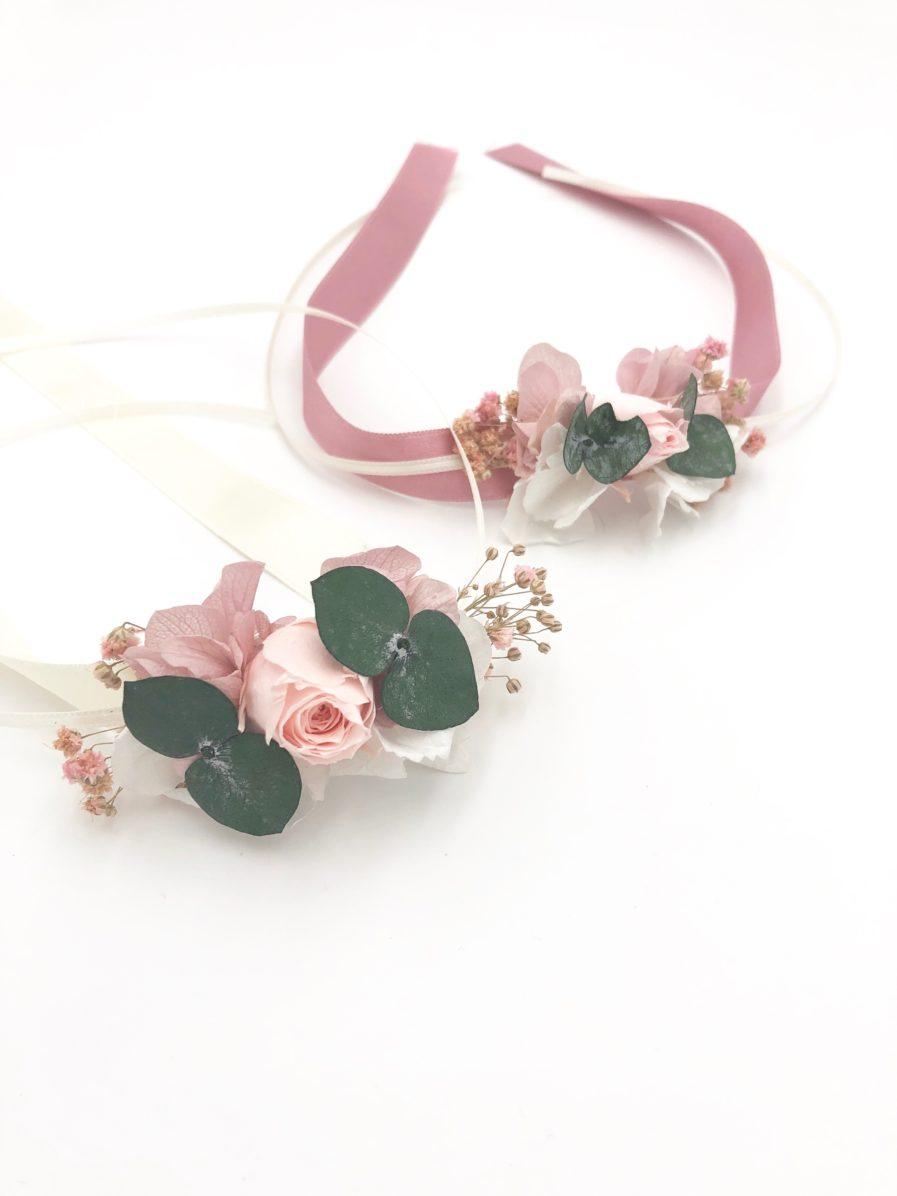 Bracelets de demoiselles d'honneur Confetti en fleurs stabilisées