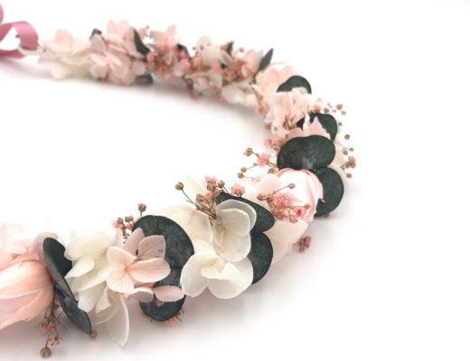 Couronne de fleurs Confetti aux tons acidulés