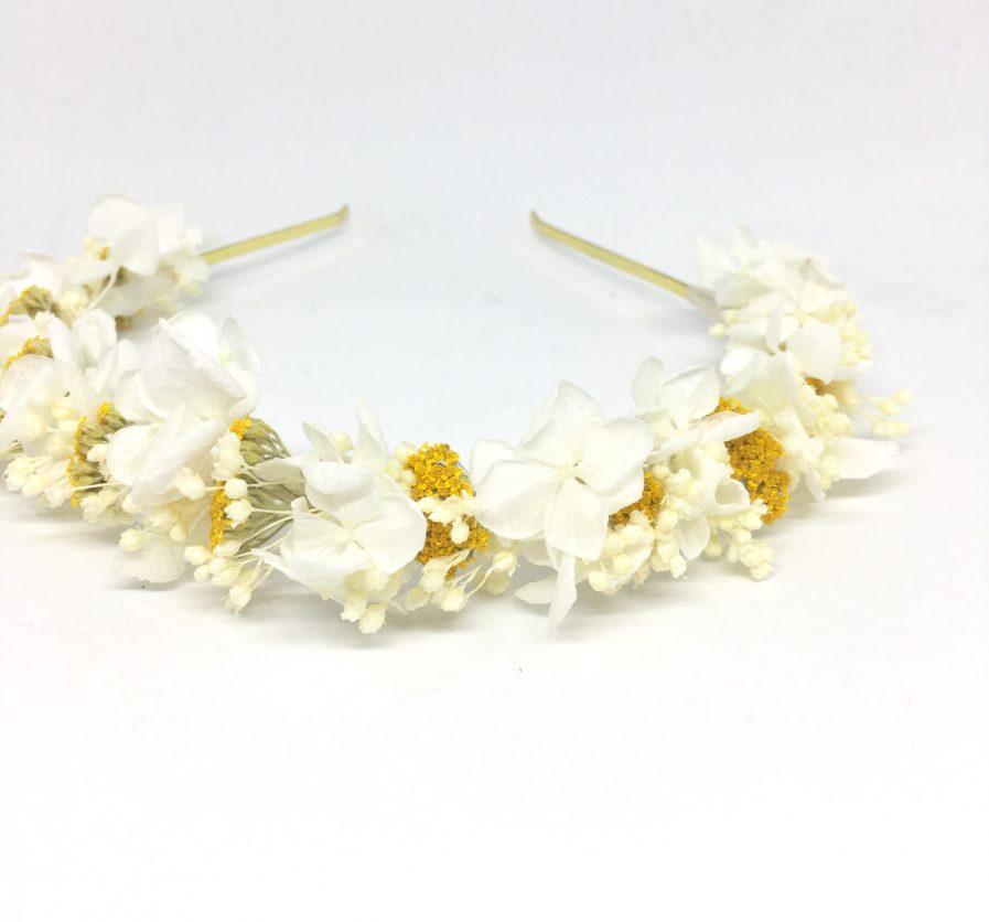 Headband de mariage Hysope en fleurs - Serre-tête de mariage