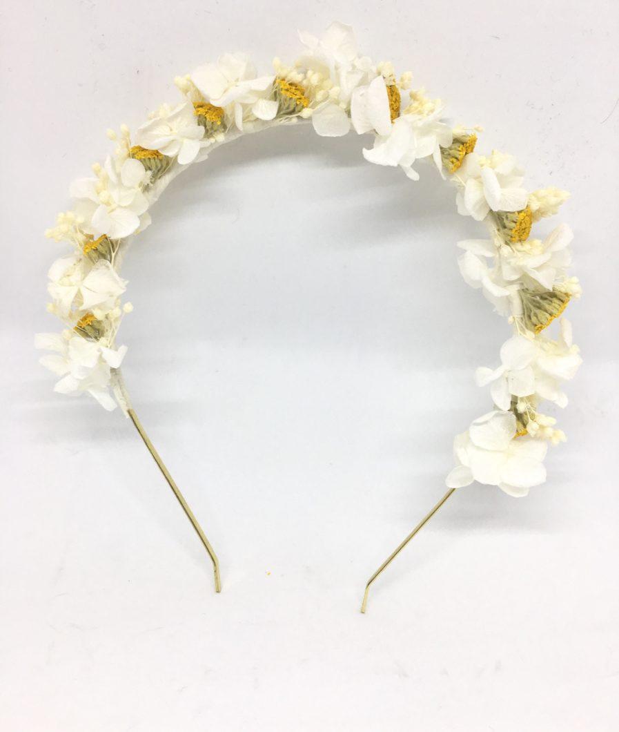 Headband de mariage Hysope en fleurs séchées et stabilisées - Serre-tête de mariée