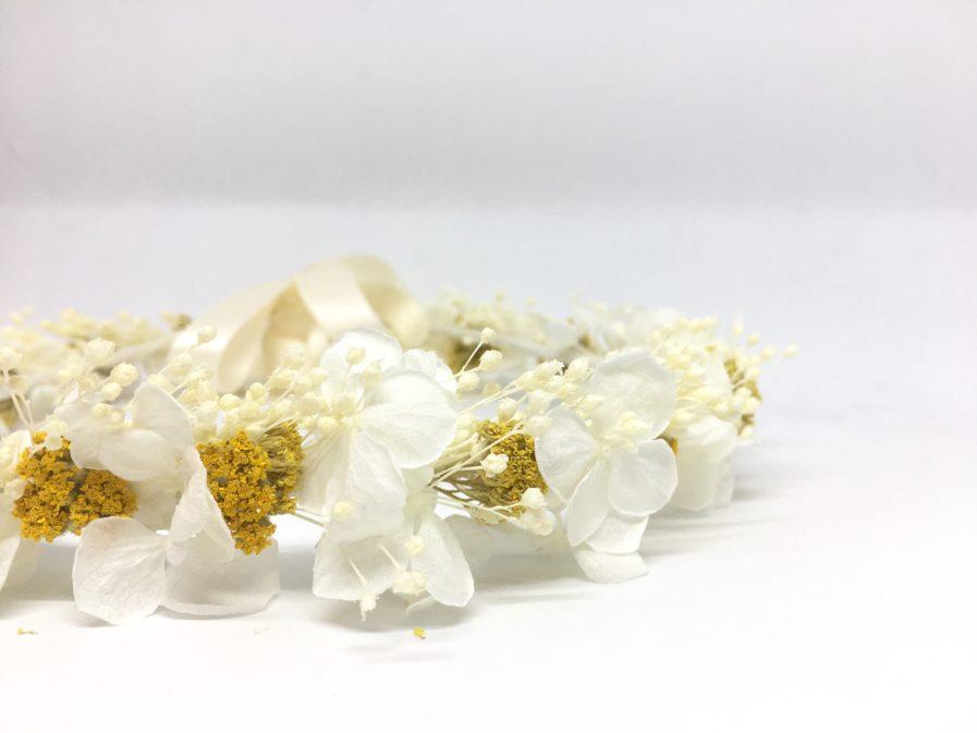 Couronne de mariage Hysope en fleurs naturelles