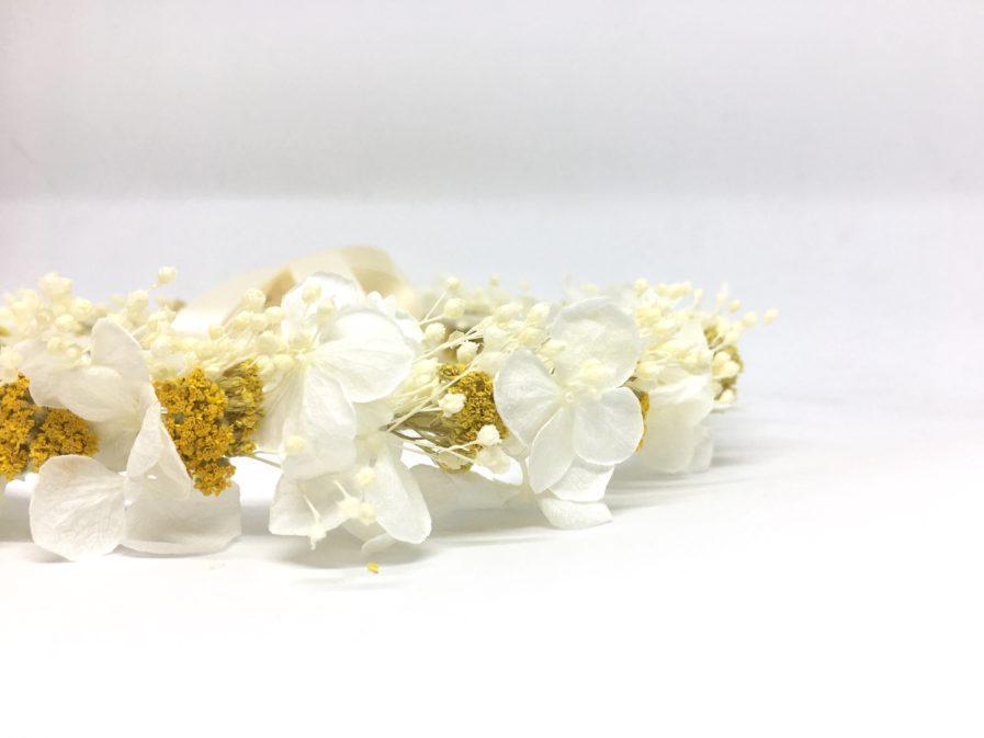 Couronne de fleurs Hysope pour mariée romantique et chic - Les Fleurs Dupont
