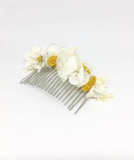 Peigne de mariée Hysope en fleurs naturelles séchées et stabilisées - Collection couture