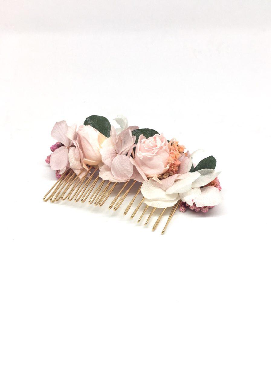 Peigne de mariage Confetti - Accessoire de cheveux en fleurs stabilisées