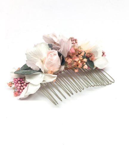 Peigne de mariage Confetti - Accessoire de cheveu en fleurs stabilisées