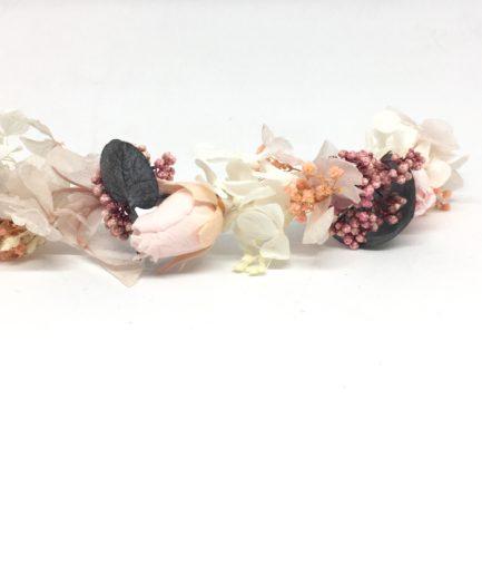 Barrette de fleurs Confetti - Accessoire de la mariée en fleurs stabilisées - Collection Romantique