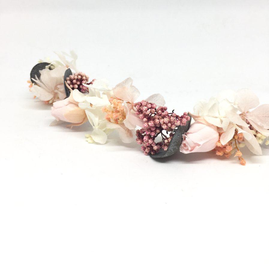 Barrette de fleurs Confetti - Accessoire de la mariée en fleurs stabilisées