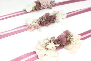 Bracelets de demoiselles d'honneur Lilla - Accessoire en fleurs séchées