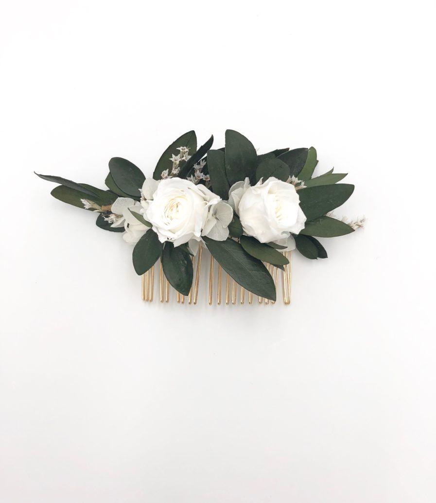 Peigne de fleurs Elaia - Les Fleurs Dupont