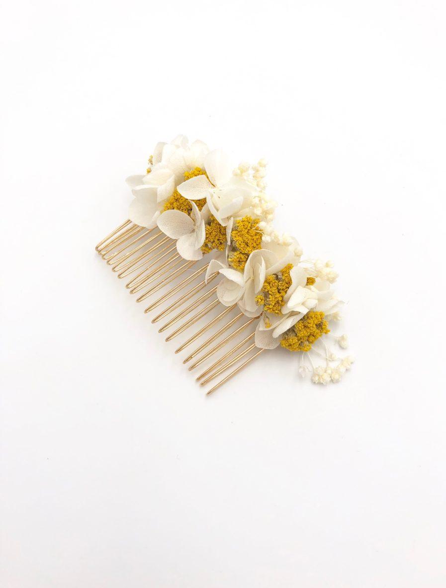 Peigne de fleurs Hysope pour la mariée chic et romantique