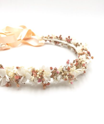 Couronne de fleurs Candi en fleurs stabilisées et séchées - Les Fleurs Dupont