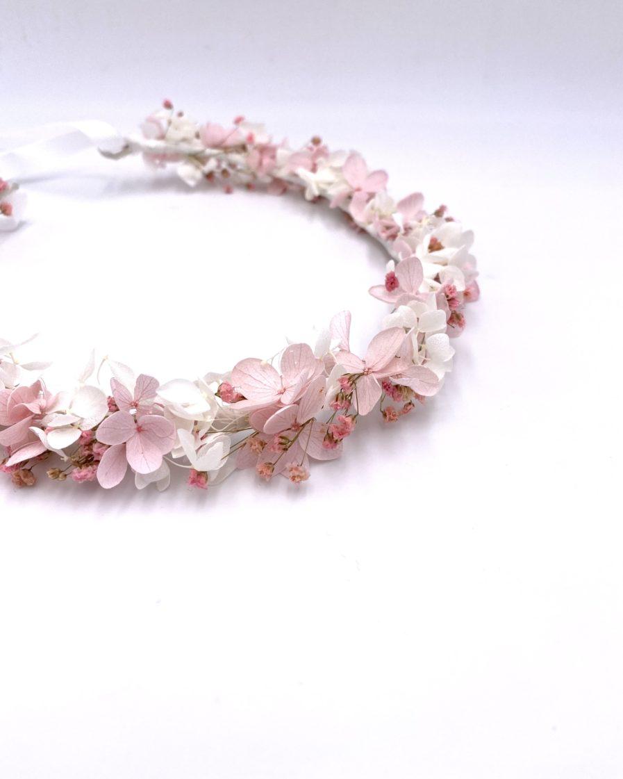 Couronne de fleurs Candi pour la mariée romantique
