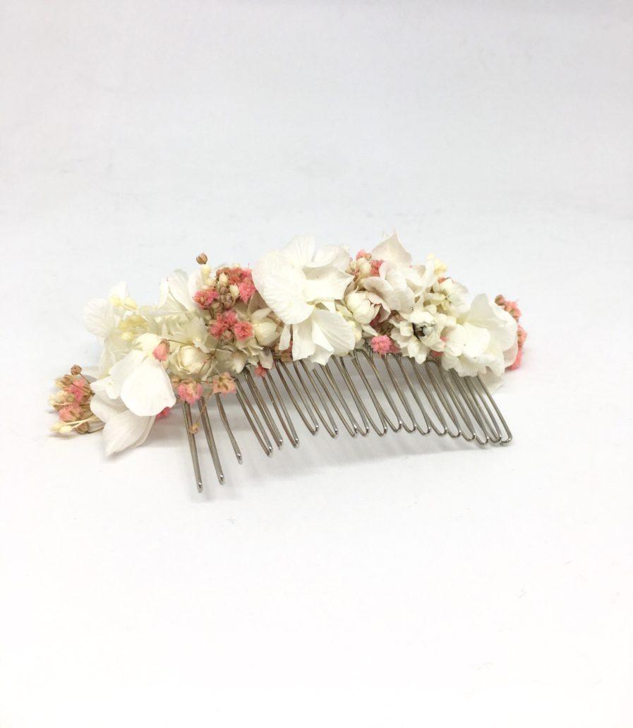 Peigne de fleurs Candi pour un mariage romantique et champêtre en 2018