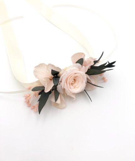 Bracelet de demoiselles d'honneur Lima en fleurs stabilisées